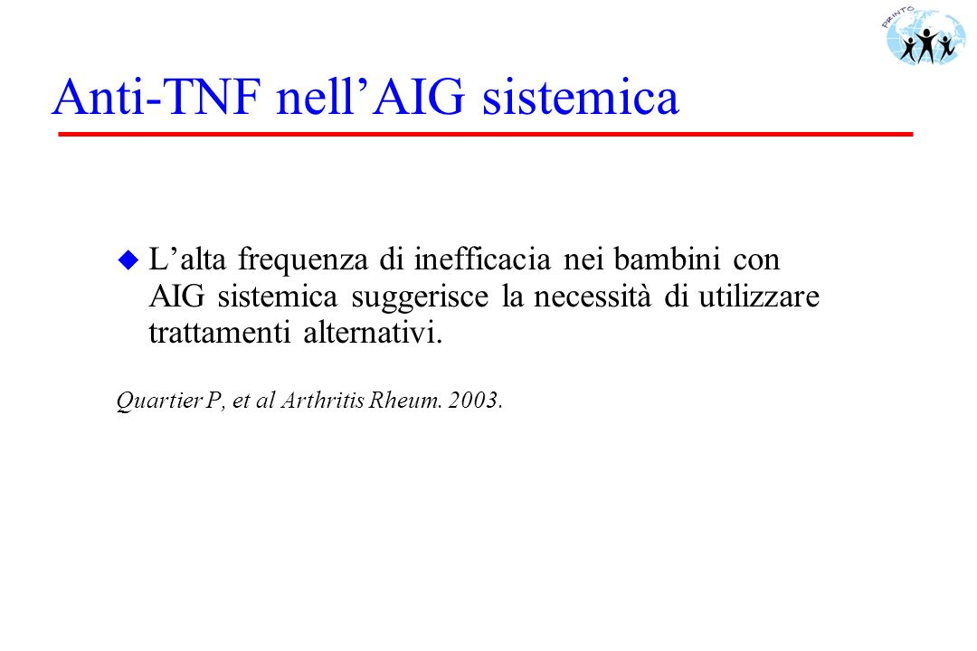Anti-TNF nell'AIG sistemica