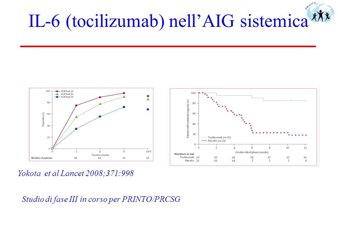 IL-6 (tocilizumab) nell'AIG sistemica