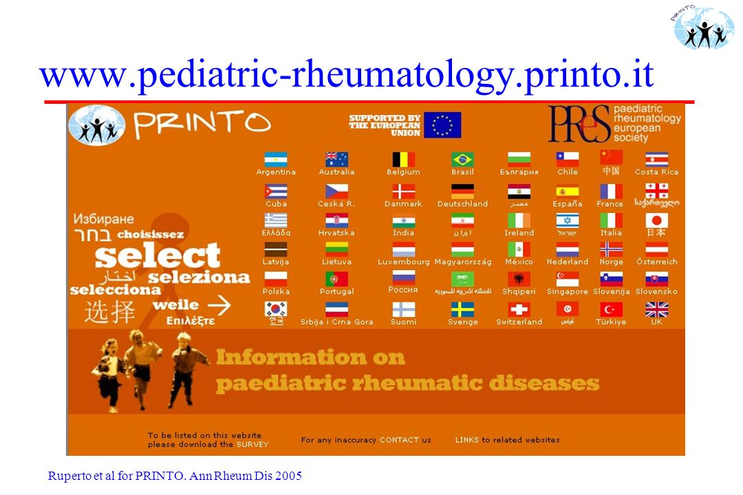 www.pediatric-rheumatology.printo.it Ruperto et al for PRINTO.