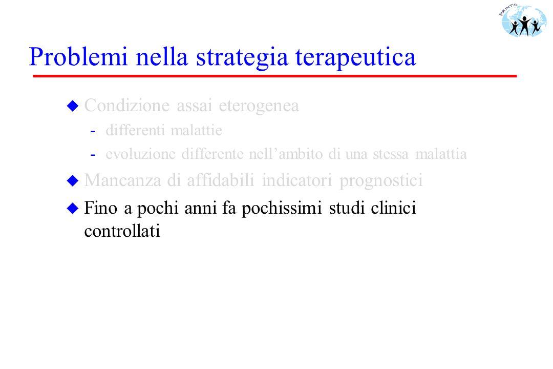 Problemi nella strategia terapeutica