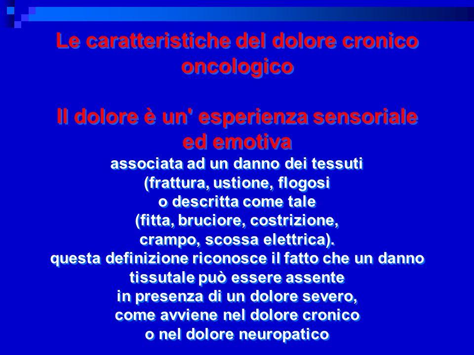 Le caratteristiche del dolore cronico oncologico