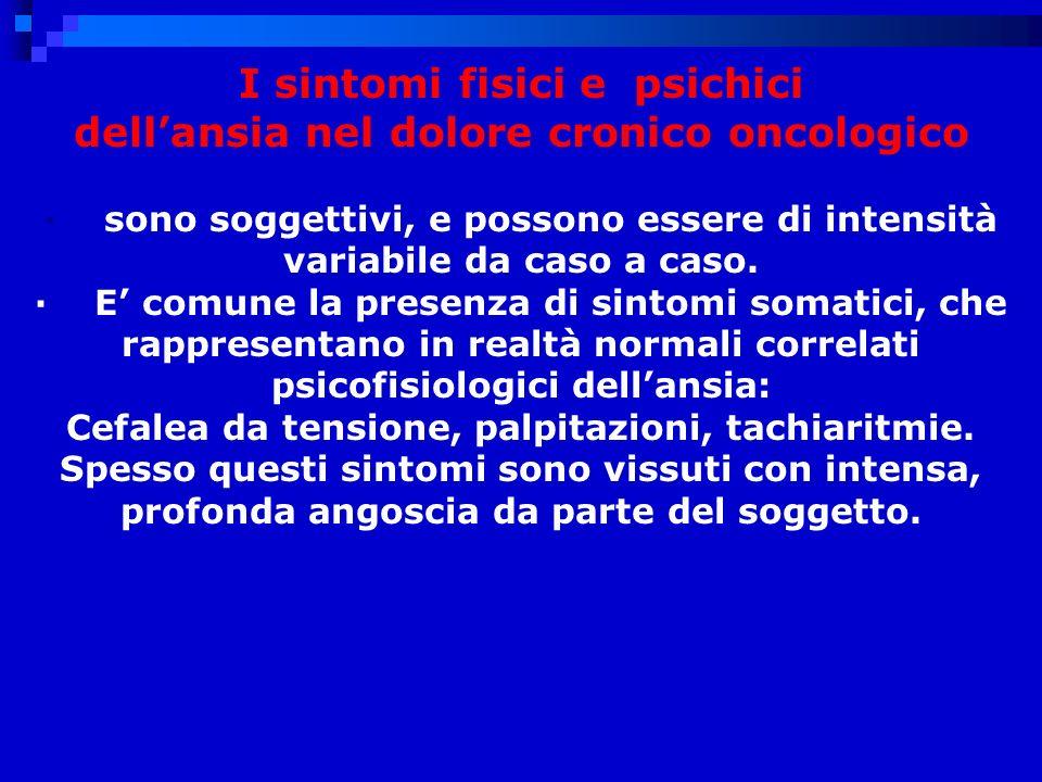 I sintomi fisici e psichici