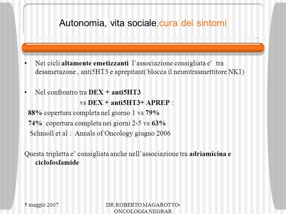 Autonomia, vita sociale,cura dei sintomi