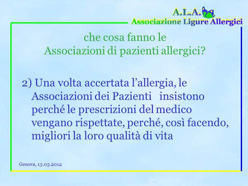 Associazioni di pazienti allergici