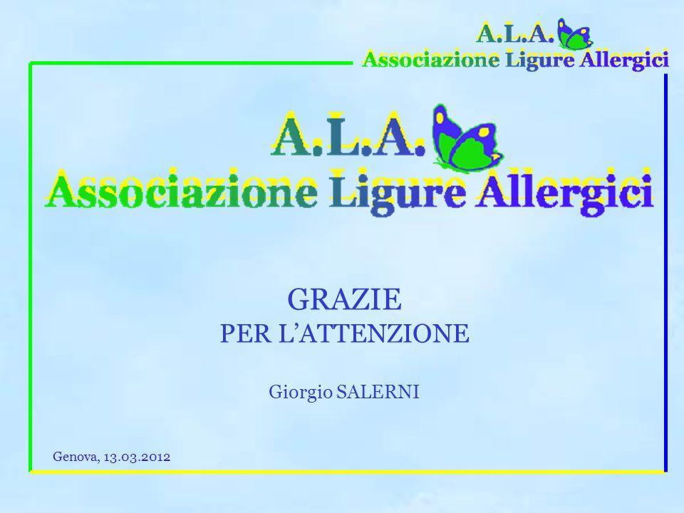 GRAZIE PER L'ATTENZIONE Giorgio SALERNI Genova, 13.03.2012