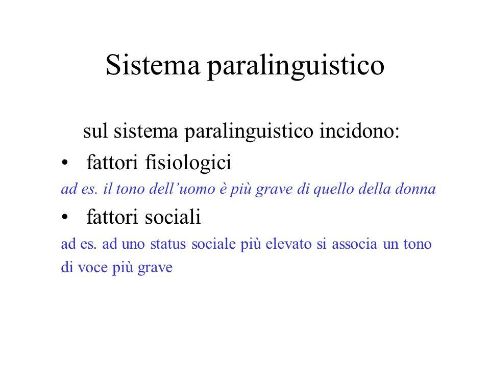 Sistema paralinguistico