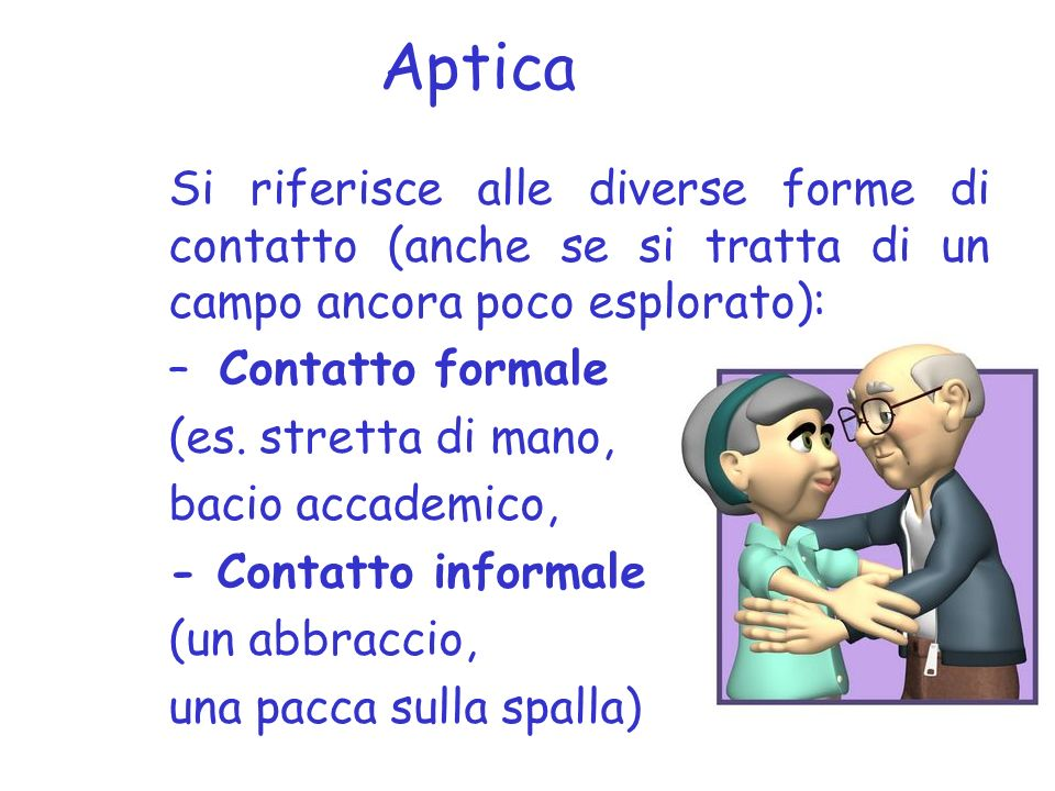 Aptica Contatto formale (es. stretta di mano, bacio accademico,