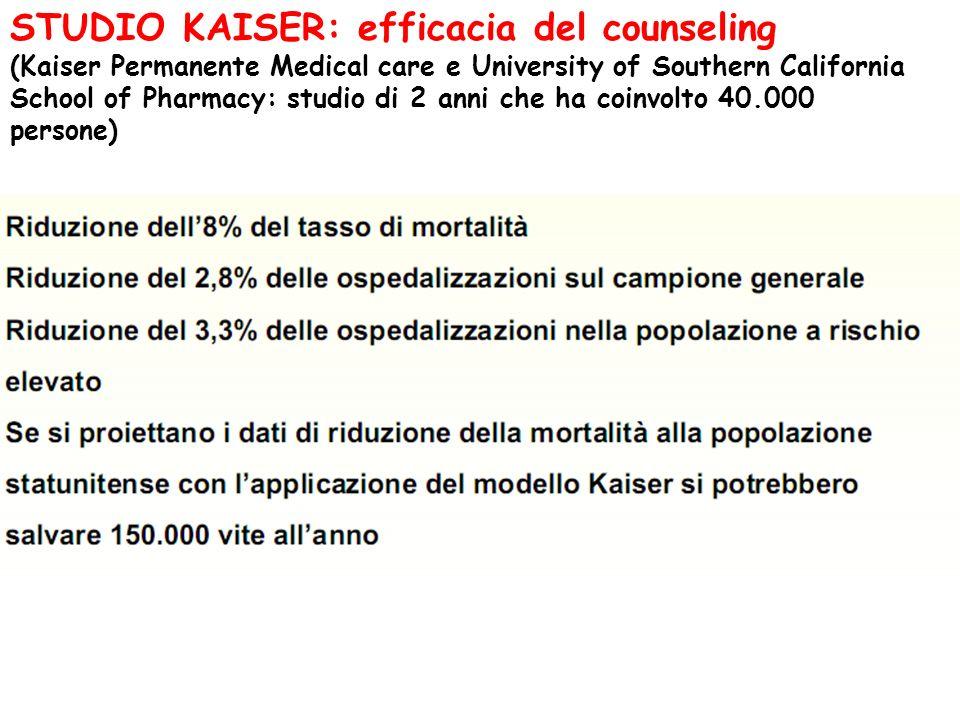 STUDIO KAISER: efficacia del counseling