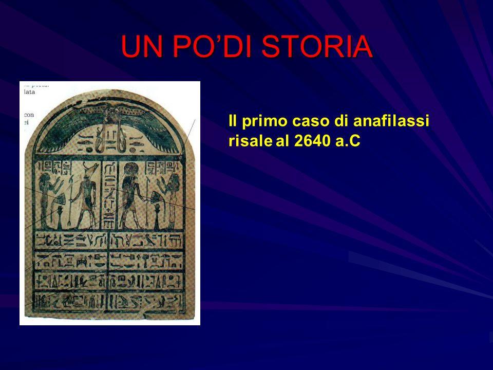 UN PO'DI STORIA Il primo caso di anafilassi risale al 2640 a.C
