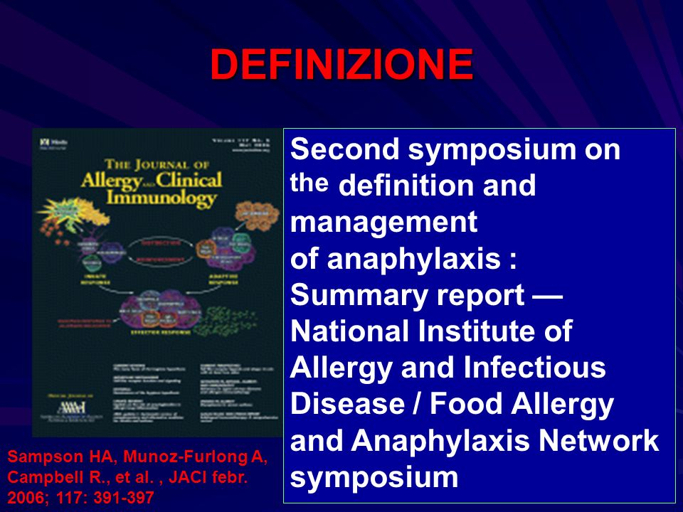 DEFINIZIONE Second symposium on the definition and management