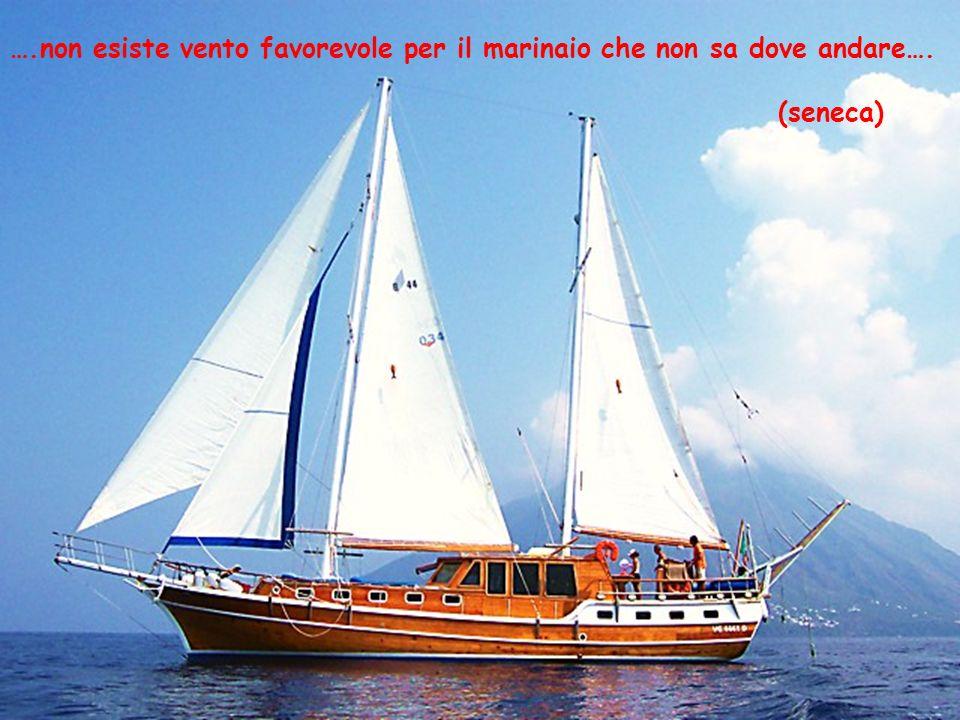 ….non esiste vento favorevole per il marinaio che non sa dove andare….
