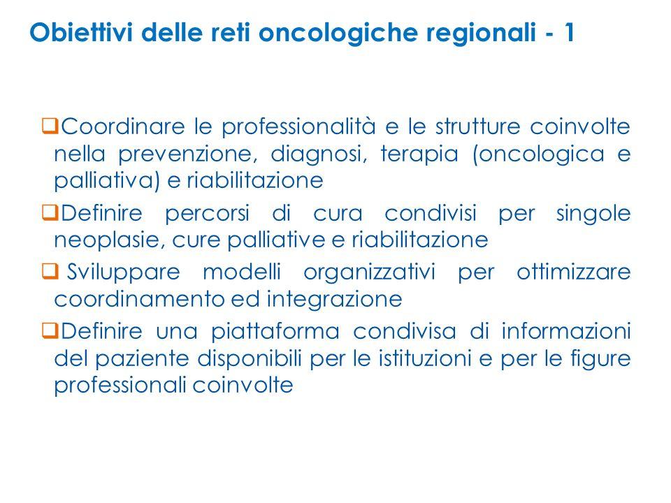 Obiettivi delle reti oncologiche regionali - 1