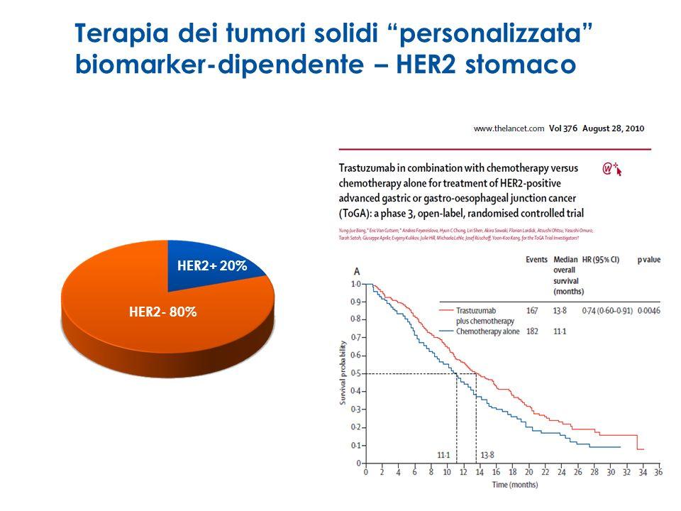 Terapia dei tumori solidi personalizzata biomarker-dipendente – HER2 stomaco
