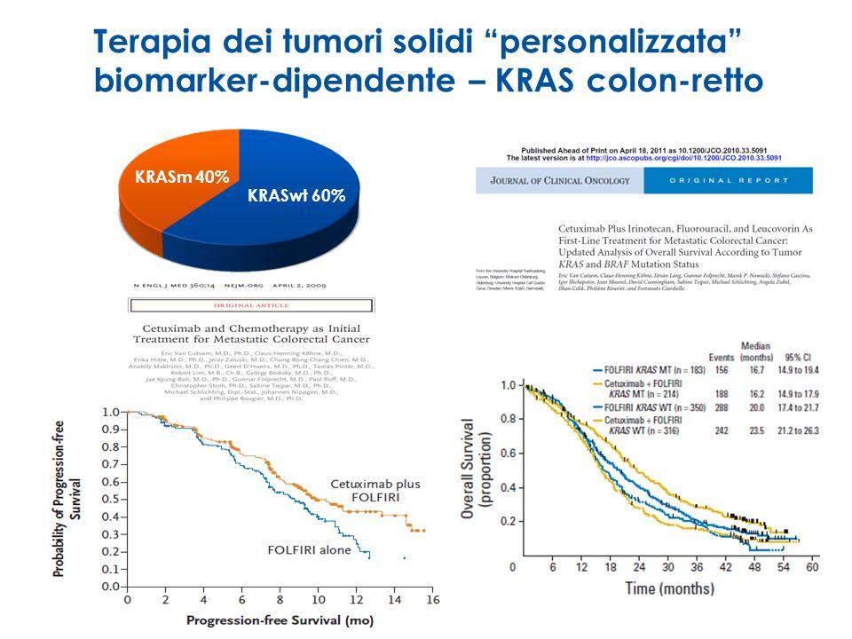 Terapia dei tumori solidi personalizzata biomarker-dipendente – KRAS colon-retto