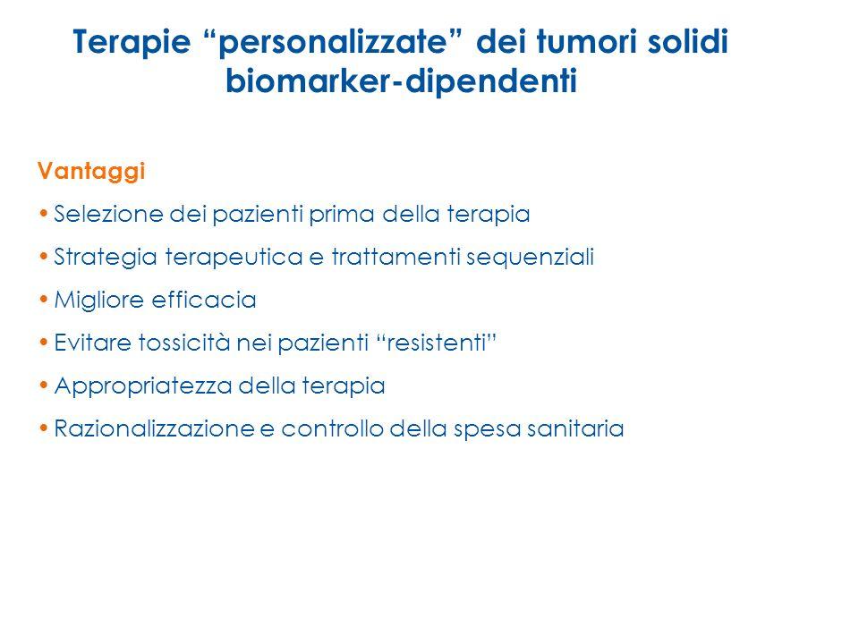 Terapie personalizzate dei tumori solidi biomarker-dipendenti