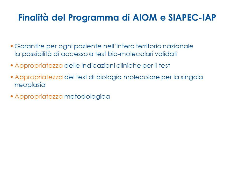 Finalità del Programma di AIOM e SIAPEC-IAP