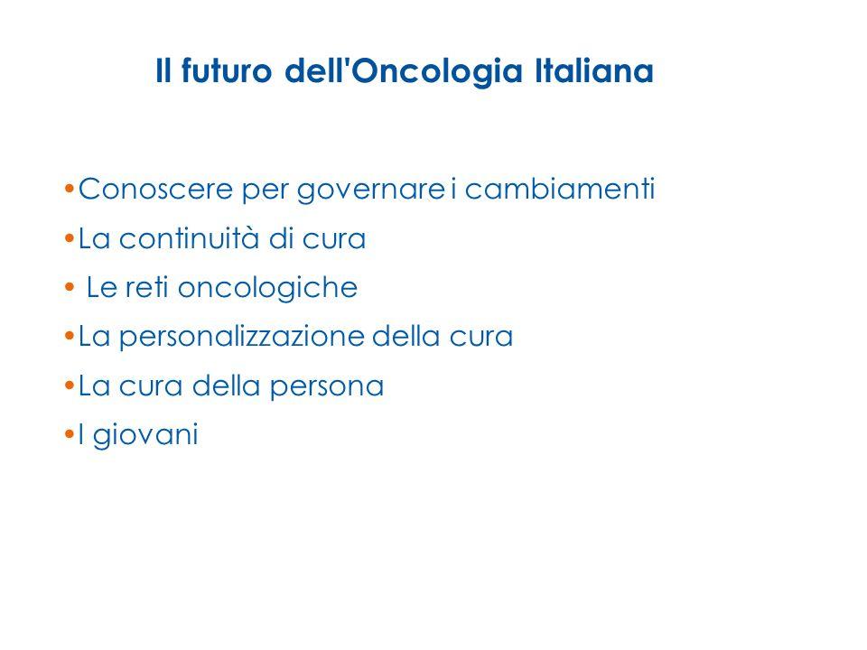Il futuro dell Oncologia Italiana
