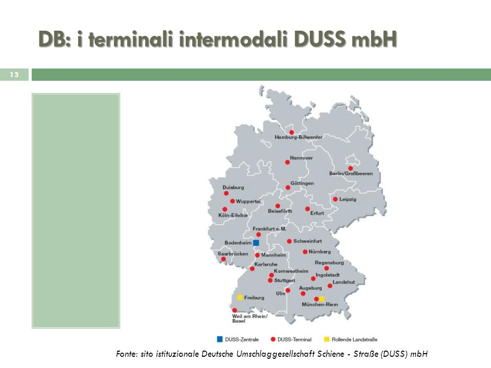 DB: i terminali intermodali DUSS mbH
