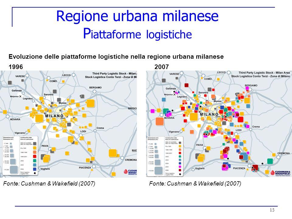 Regione urbana milanese Piattaforme logistiche