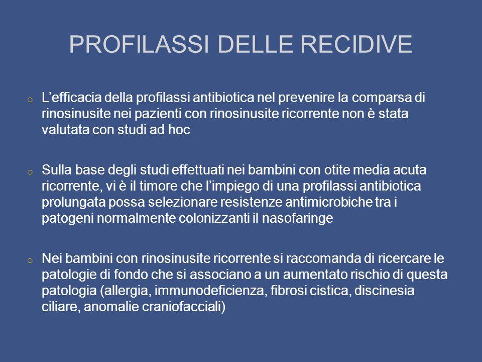 PROFILASSI DELLE RECIDIVE
