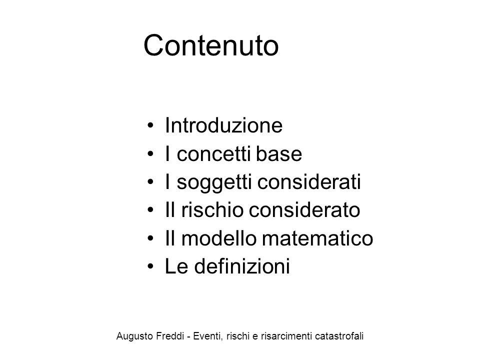 Augusto Freddi - Eventi, rischi e risarcimenti catastrofali