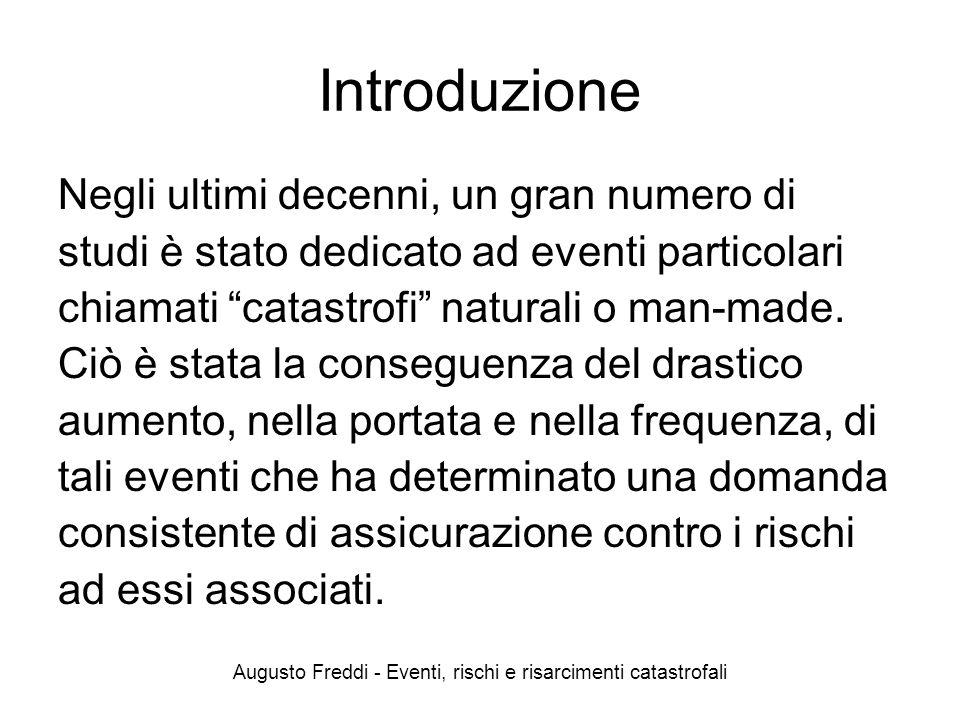 Eventi, rischi e risarcimenti catastrofali - Augusto Freddi