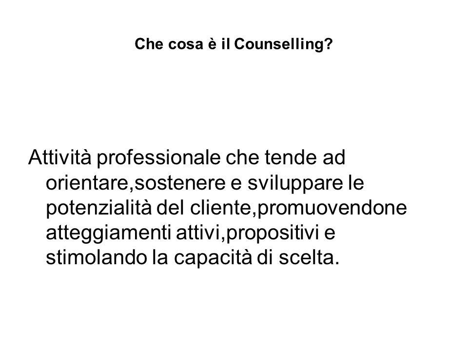 Che cosa è il Counselling