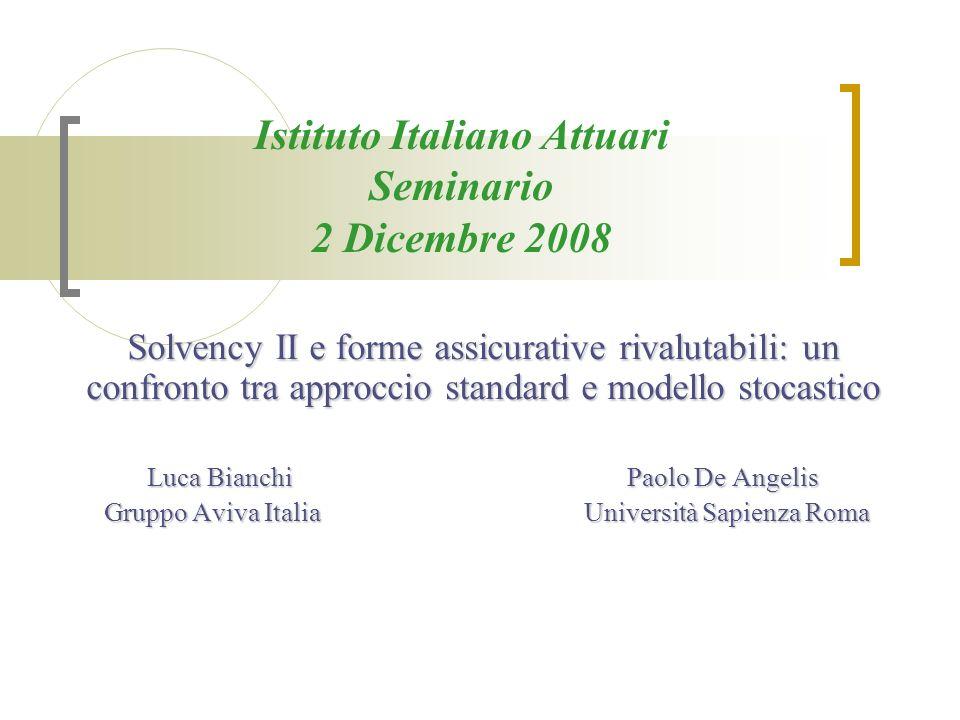Istituto Italiano Attuari Seminario 2 Dicembre 2008