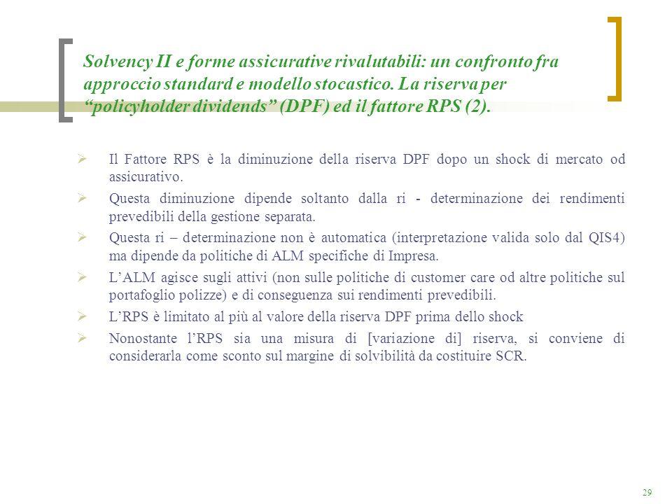Solvency II e forme assicurative rivalutabili: un confronto fra approccio standard e modello stocastico. La riserva per policyholder dividends (DPF) ed il fattore RPS (2).