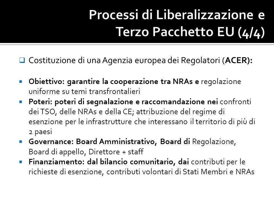 Processi di Liberalizzazione e Terzo Pacchetto EU (4/4)