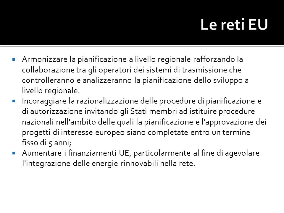 Le reti EU