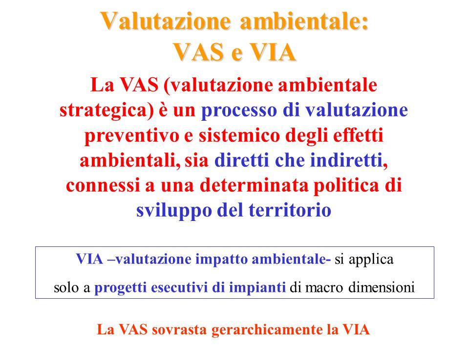 Valutazione ambientale: VAS e VIA