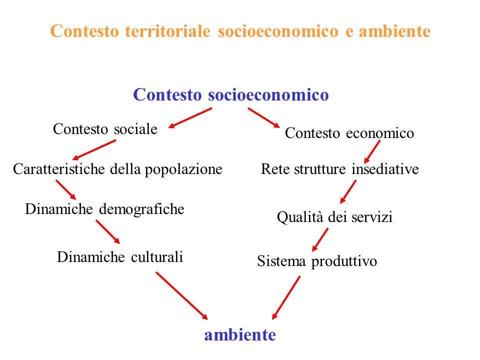 Contesto territoriale socioeconomico e ambiente
