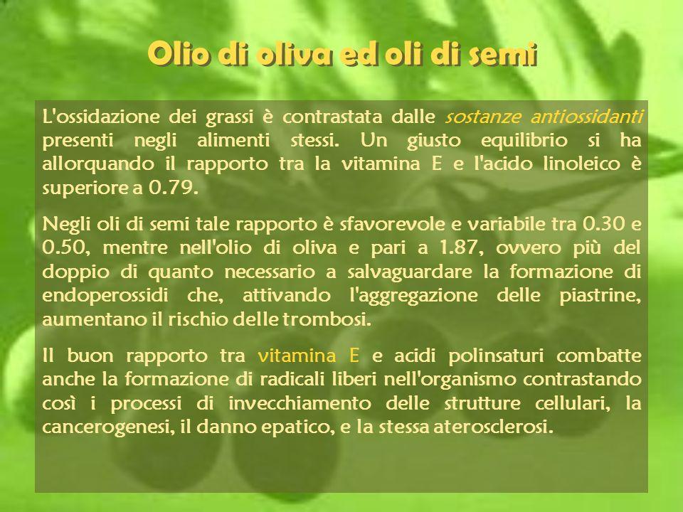 Olio di oliva ed oli di semi
