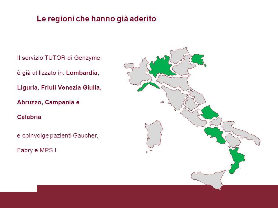 Le regioni che hanno già aderito
