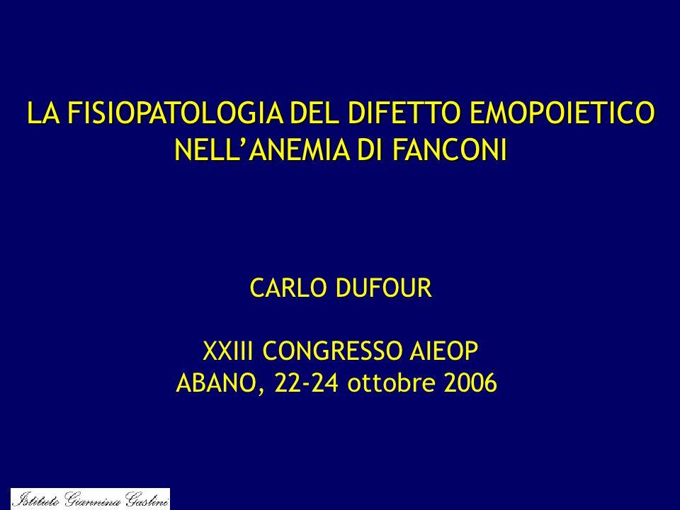 LA FISIOPATOLOGIA DEL DIFETTO EMOPOIETICO NELL'ANEMIA DI FANCONI