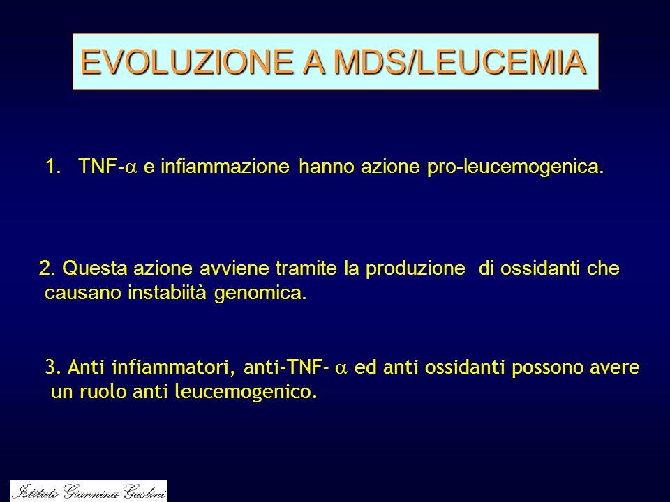 EVOLUZIONE A MDS/LEUCEMIA