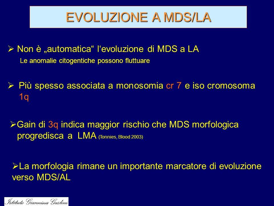 """EVOLUZIONE A MDS/LA Non è """"automatica l'evoluzione di MDS a LA"""