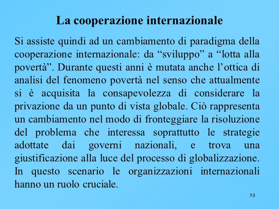 La cooperazione internazionale