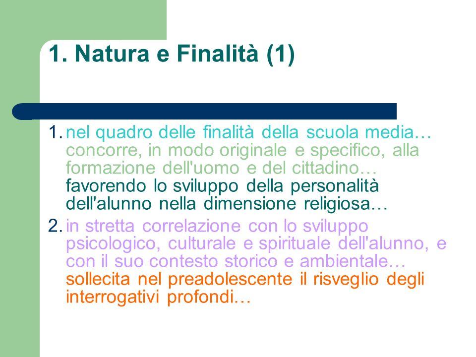 1. Natura e Finalità (1)