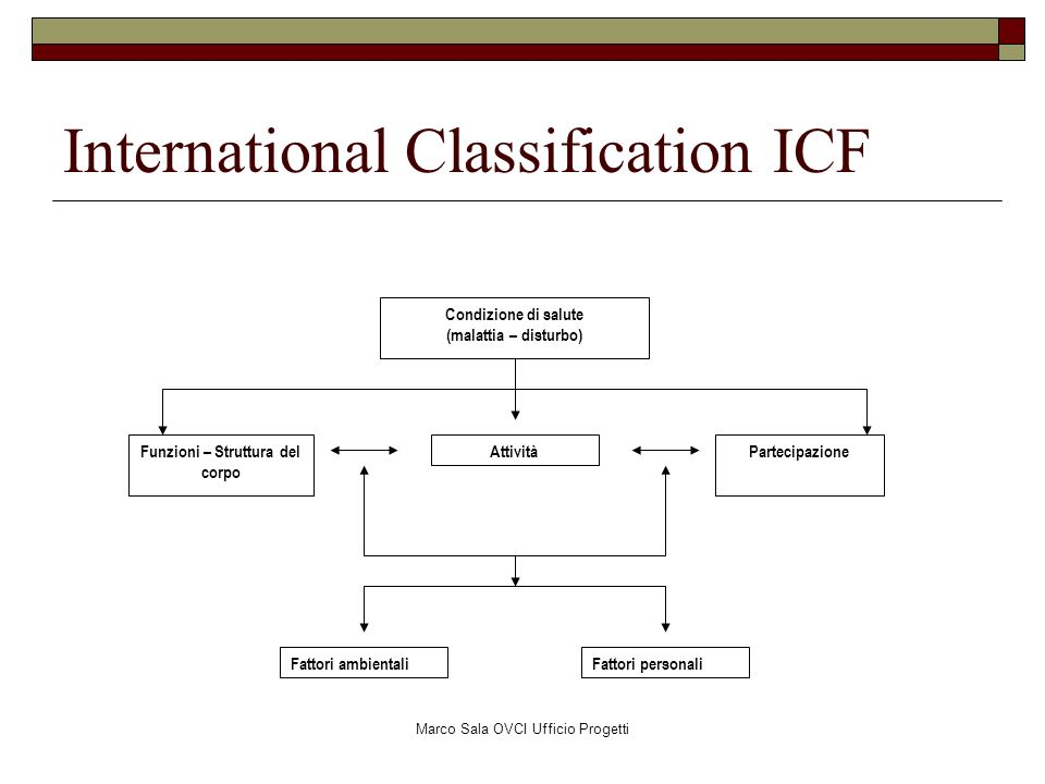 International Classification ICF