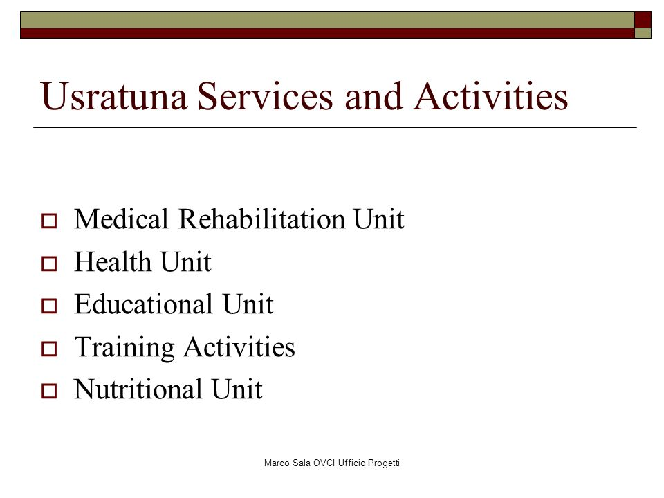 Usratuna Services and Activities