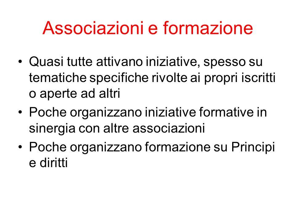 Associazioni e formazione