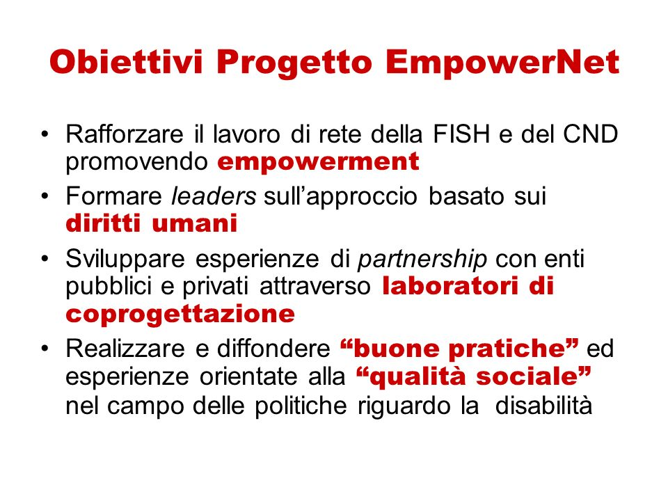 Obiettivi Progetto EmpowerNet