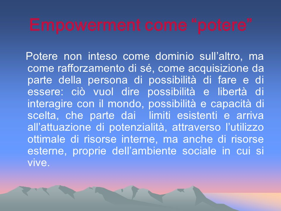 Empowerment come potere