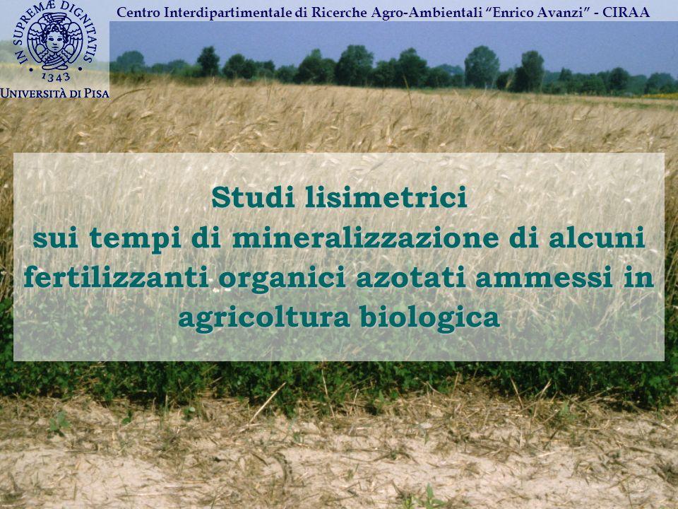 Centro Interdipartimentale di Ricerche Agro-Ambientali Enrico Avanzi - CIRAA