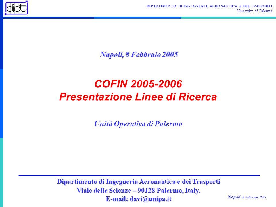 COFIN 2005-2006 Presentazione Linee di Ricerca
