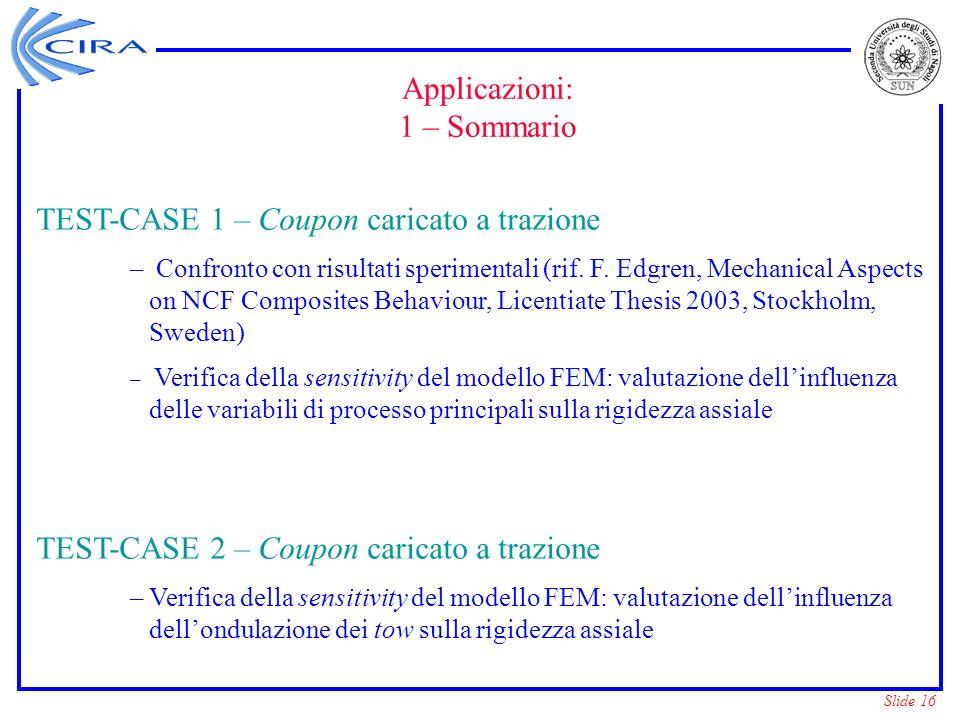 TEST-CASE 1 – Coupon caricato a trazione
