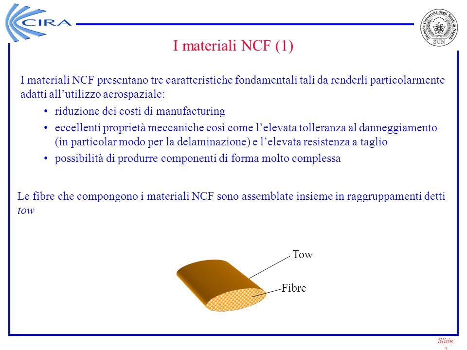 I materiali NCF (1) I materiali NCF presentano tre caratteristiche fondamentali tali da renderli particolarmente adatti all'utilizzo aerospaziale:
