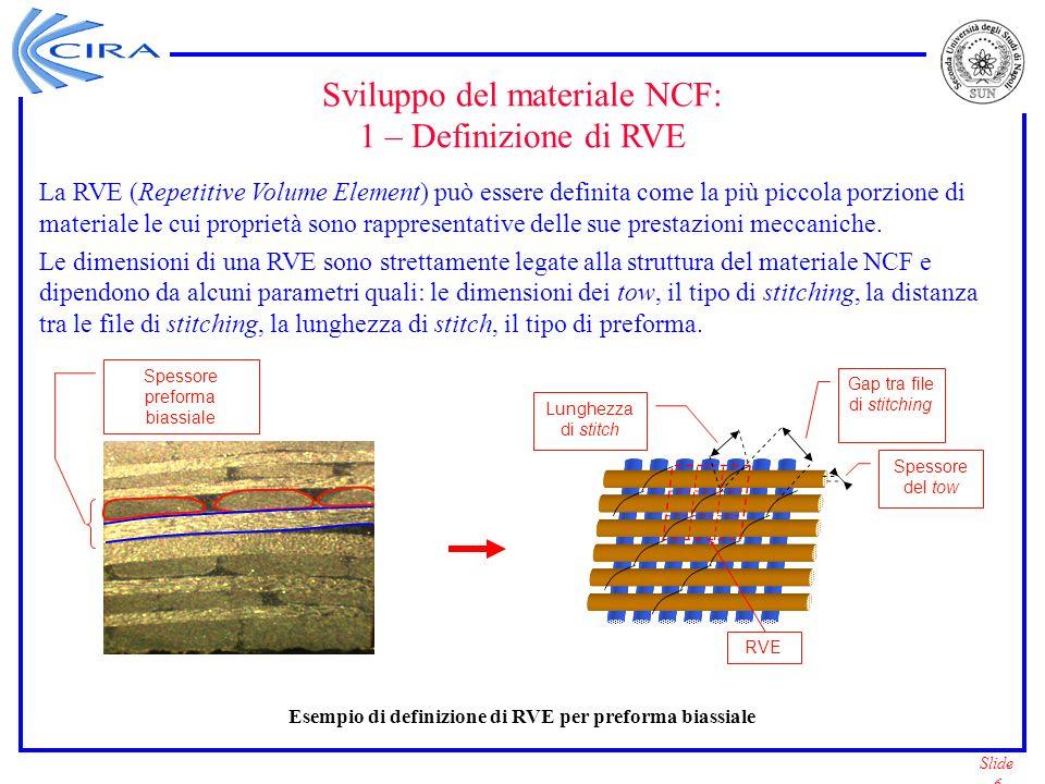 Esempio di definizione di RVE per preforma biassiale